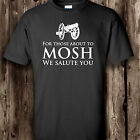 For those about to MOSH (ACDC) circle pit t shirt. Music. Rock. Metal. Heavy