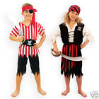 Kids PIRATE BOY or PIRATE GIRL Pirate Fancy Dress Costume New BOOK DAY WEEK 4-12