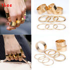 9PCS/Set Wide Band stack Plain Cute Above Knuckle Ring Band Midi Rings
