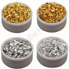 Gold & Silver Plated U Shape Fold Over Crimp Beads Cord End Tips 6 8 9 10 mm