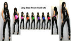 PVC Catsuit Black & Any Colours  Size 6-22 UK BRAND NEW