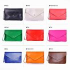 Vintage Women's Handbag Clutch Envelope Bags Single Shoulder Candy Color Fashion