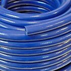 Blue Braided Flexible PVC Hose Pipe for Water Air Oil & Gases Reinforced Tubing