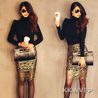 Sexy Women Hollow Crochet Black Lining Clubwear Slim Fit Gold Pencil Midi Skirt