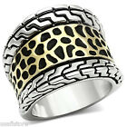 Ladies No Stone Two Tone Yerllow & White Gold Plated Ring