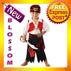 CK15 Ahoy Matey Sailor Pirate Fancy Dress Up Boys Toddler Kids Halloween Costume