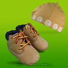 Timberland Original Crib Booties Hat Laces Pram First Soft Sole Shoes Boots NEW