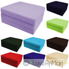Childrens Kids Folding Guest Z Bed Cube Sleepover Sleeping Mattress Futon UK