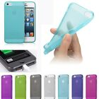 0.5mm TPU Ultra Thin Matte Back Case Cover Skin Side Button For iPhone 5 5S SE