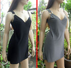 New Vintage Sexy women summer ring spaghetti chic bust fold mini dress DB-155
