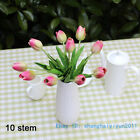 10 PCS Artificial Flowers Silk Flower PU tulip Home Decoration Gift  F35