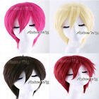 30cm Short Layered Style Men Women 7 Colors Anime Cosplay Hair Wig +Free Wig Cap