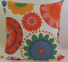 NEW SINGLE RETRO STYLE CUSHION COVERS BLUE GREEN ORANGE BEIGE PINK RED FLOWERS