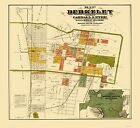 Historic City - BERKELEY CALIFORNIA LANDOWNER MAP - CARNELL AND EYRE 1880