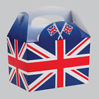 Union Jack Flag UK Childrens Kids Food Loot Meal Birthday Party Bag Carry Boxes