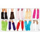 Furry Leg Warmers Adult Womens Fluffies Plush Boot Cuff Toppers