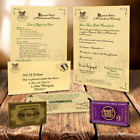 HARRY POTTER HOGWARTS ACCEPTANCE LETTER PERSONALISED GIFT +FREE EXPRESS TICKET