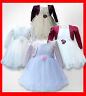 BABY GIRLS BOLERO JACKET CHRISTENING DRESSES GIRLS WEDDING BRIDESMAID DRESSES