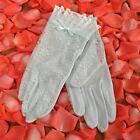 New Women's Wrist Silk Bridal Gloves with Lace Six Colors SK004D