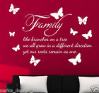 HUGE SIZE Family like branches on a tree wall sticker  Wall Quote  N99