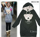 2013 Arrival Autumn Women New Hoodie Long Top Pullover Sweatshirts Bear Bowknot