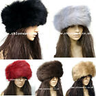 Ladies fashion  faux fur head band muff fleece warm Blogger hairband UK STOCK