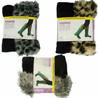 LADIES ANUCCI FLEECE WELLIE SOCKS WITH FAUX FUR CUFF AVAILABLE IN TWO STYLES
