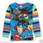 BOYS JUSTICE LEAGUE STRIPE LONG SLEEVE TOP AGE 18-24, 2-3, 3-4, 4-5, 5-6 YEARS