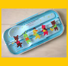 very cute animal play music spoon fork chopstick Cutlery set w box case for kid