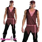 Mens Buccaneer Pirate Man Halloween Costume Fancy Dress Party Dress Outfit