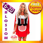J31 Ladies Little Red Riding Hood Storybook Fancy Dress Halloween Costume Outfit