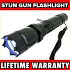 Metal MILITARY Stun Gun 999 Million Volt Rechargeable LED Flashlight + Case NEW