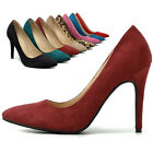 ollio Women's Shoes Faux Suede Stilettos D'Orsay High Heels Multi Colored Pumps