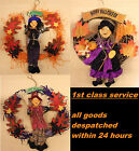 Halloween Witch Door Wreath Party Decoration Pumpkin or Ghost
