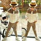 1806 Boutique Handsome 2Ps Outfits Sets Plaids Cape Shirt + Matching Dress Pants