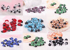 New candy color 10pcs  lampwork glass spot ladybird animals spacer beads 11x17mm