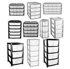 Drawer Tower Storage Solution Unit Plastic Office School Home Strong Made in UK