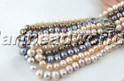 variation color white pink black 8mm near round freshwater pearl beads necklace