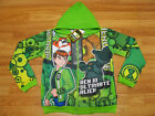 Ben 10 Ultimate Alien Hooded Jacket #989 Green Size 4-14 age 2-12