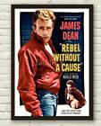 Vintage Rebel Without A Cause James Dean Movie Film Poster Print Picture A3 A4 1