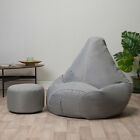 Beanbag Foot stool Gamer Chair Indoor Outdoor Arm Chair Large Garden Seat Gaming