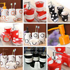 Ceramic Bathroom Accessory Floral Soap & Toothbrush Set and Toilet Brush/Holder