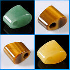 21mm Gemstone ladder trapezoid chunky pendant bead 6mm Big side Hole 0.8""