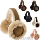 LADIES REAL THICK SHEEPSKIN EAR MUFFS & GIFT BOX BLACK CHESTNUT, BROWN, PINK,
