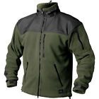 HELIKON TACTICAL ARMY WARM FLEECE JACKET CLASSIC OUTDOOR POLAR OLIVE GREEN BLACK