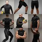 Mens Black Sports Compression Set Base Under Layer Top Pants Long Short | Take 5