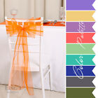 LiNg's 100pcs Wide Organza Chair Sashes Wedding Banquet Bows Party Decorations