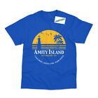 Amity Island Inspired by Jaws Movie Shark Printed T-Shirt