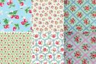 Cath Kidston Floral 100% Cotton Fabric pieces starting at 10cm x 10cm