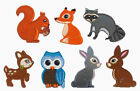 WOODLAND ANIMALS Iron Sew On Patch Badge Applique Motif RABBIT FOX OWL SQUIRREL